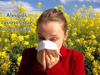 Alergias curiosas que no conocías